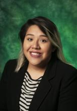 Photo of Julissa Velasquez with a green background