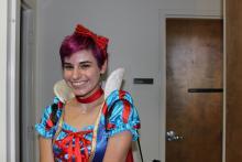 Girl dressed as Snow White
