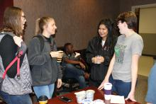 Students drinking coffee