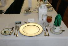 A place setting reserved for Jonathan Salazar