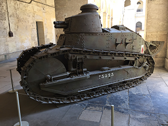 A World War II tank