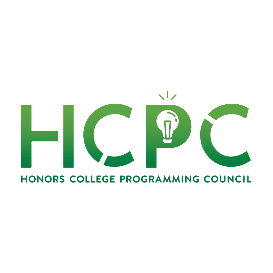 The logo for the Honors College Programming Council: the capital letters H C P C