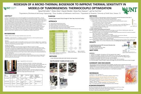 Redesign of Micro-thermal Biosensor to Improve Thermal Sensitivity in Models of Tumorigenesis