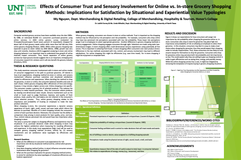 Effects of Consumer Trust and Sensory Involvement for Online vs. In-store Grocery Shopping Methods: Implications for Satisfactio