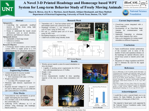 A Novel 3-D Printed Headstage and Homecage based WPT System for Long-term Behavior Study of Freely M