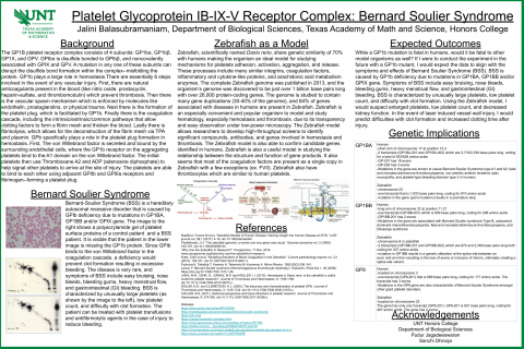 Platelet Glycoprotein IB-IX-V Receptor Complex: Bernard Soulier Syndrome
