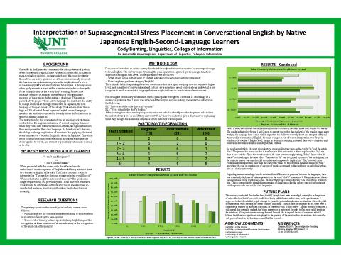 Interpretation of Suprasegmental Stress Placement in Conversational English by Native Japanese Engli