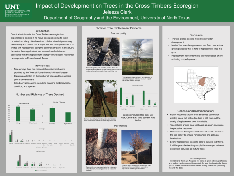 Impact of Development on Trees in the Cross Timbers Ecoregion