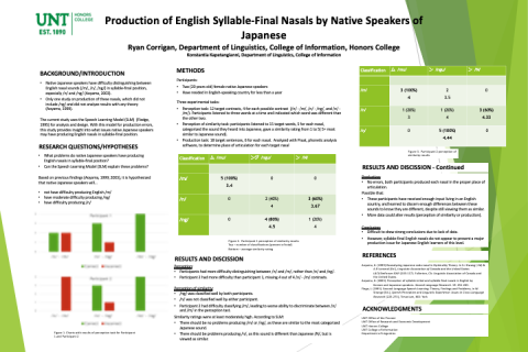Production of English Syllable-Final Nasals by Native Speakers of Japanese
