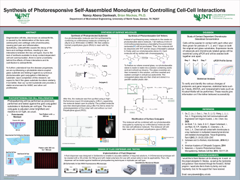 Synthesis of Photoresponsive Self-Assembled Monolayers for Controlling Cell-Cell Interactions