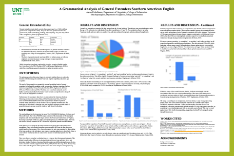 A Grammatical Analysis of General Extenders in Southern American English