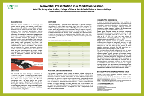 Nonverbal Presentation in a Mediation Session