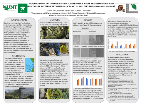 We compare the abundance of tardigrades in different habitats