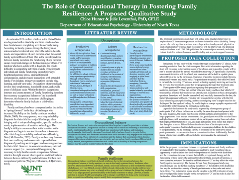 The Role of Occupational Therapy in Fostering Family Resilience: A Proposed Qualitative Study