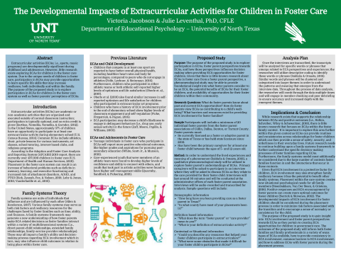 The Developmental Impacts of Extracurricular Activities for Children in Foster Care