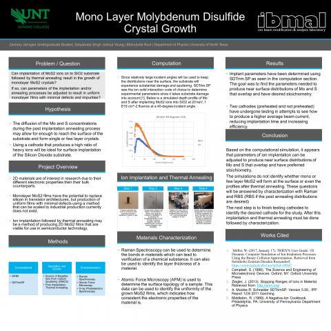 Mono-Layer Molybdenum Disulfide Crystal Growth