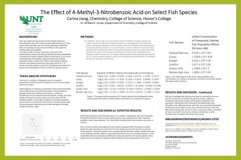 The Effect of 4-Methyl-3-Nitrobenzoic Acid on Select Fish Species