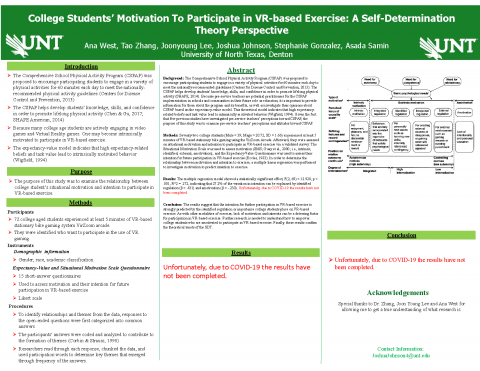 Examining College Students' Motivation To Participate in VR-based Exercise: A Self-Determination The