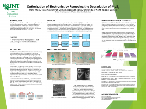 Optimization of Electronics by Removing the Degradation of MoS2