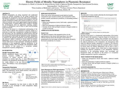 Electric Fields of Metallic Nanospheres in Plasmonic Resonance