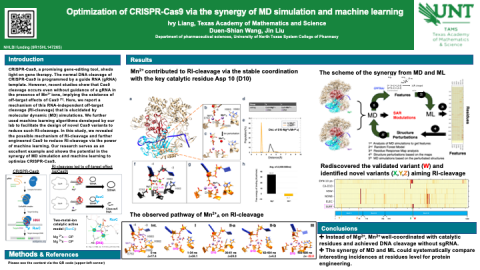 Optimization of CRISPR-Cas9 via the synergy of MD simulation and machine learning