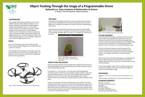 Object Tracking Through the Usage of a Programmable Drone