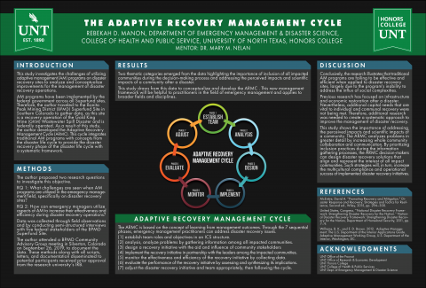 The Adaptive Recovery Management Cycle Poster
