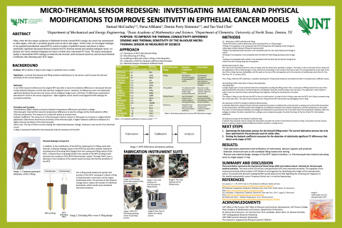 Micro-thermal Sensor Redesign: Investigating Material and Physical Modifications to Improve Sensitiv