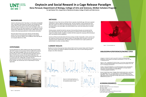 Oxytocin and Social Reward in a Cage Release Paradigm