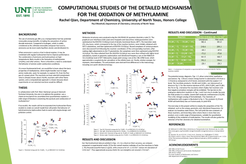 Computational Studies of the Detailed Mechanism for the Oxidation of Methylamine