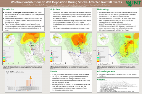 Wildfire Contributions To Wet Deposition During Smoke-Affected Rainfall Events