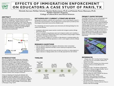 The Effects of Immigration Enforcement on Educators: A Case Study of Paris, TX