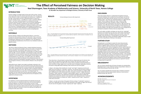 Effect of Perceived Fairness on Decision Making