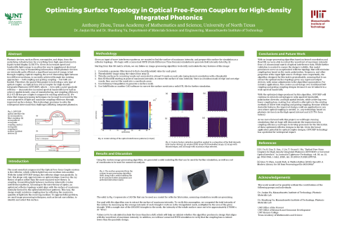 Optimizing Surface Topology in Optical Free-Form Couplers for High-density Integrated Photonics